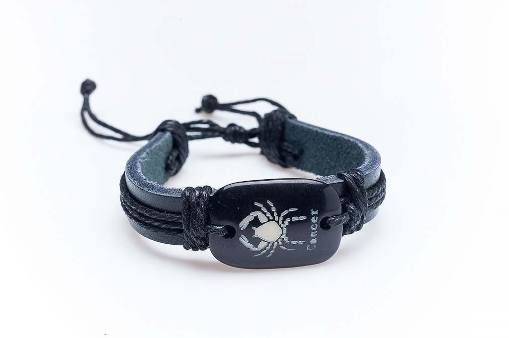 Women's leather bracelet Elena
