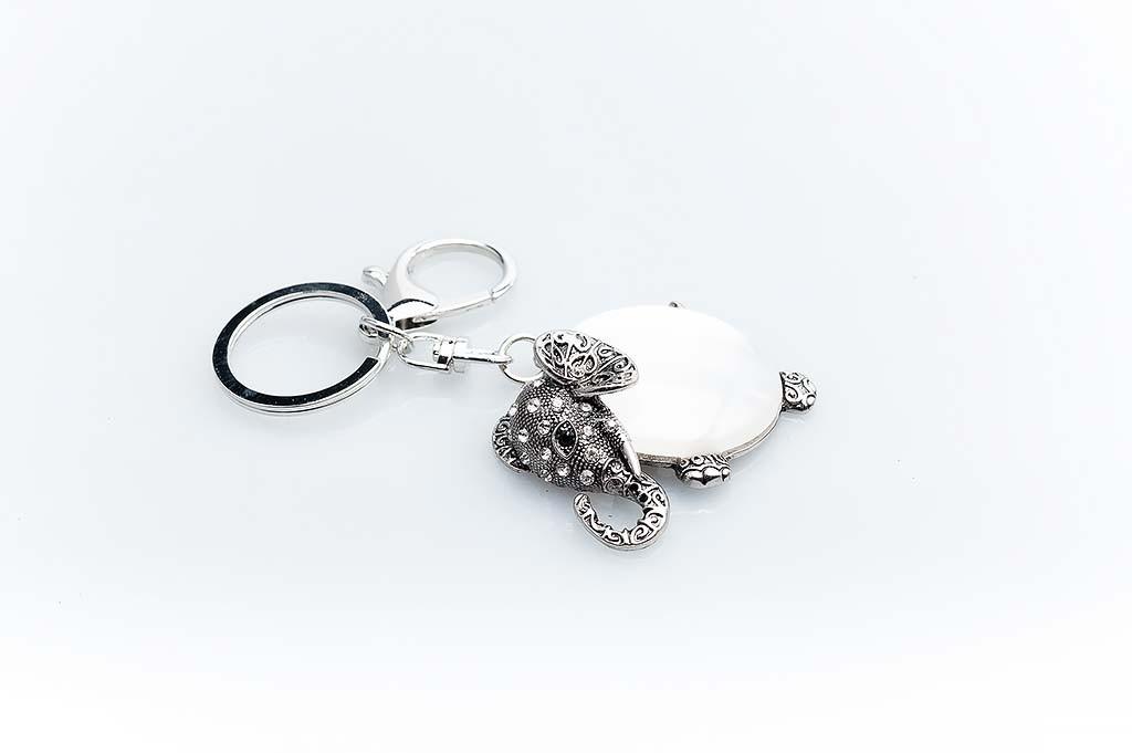 Women's keychain Silvery elephant
