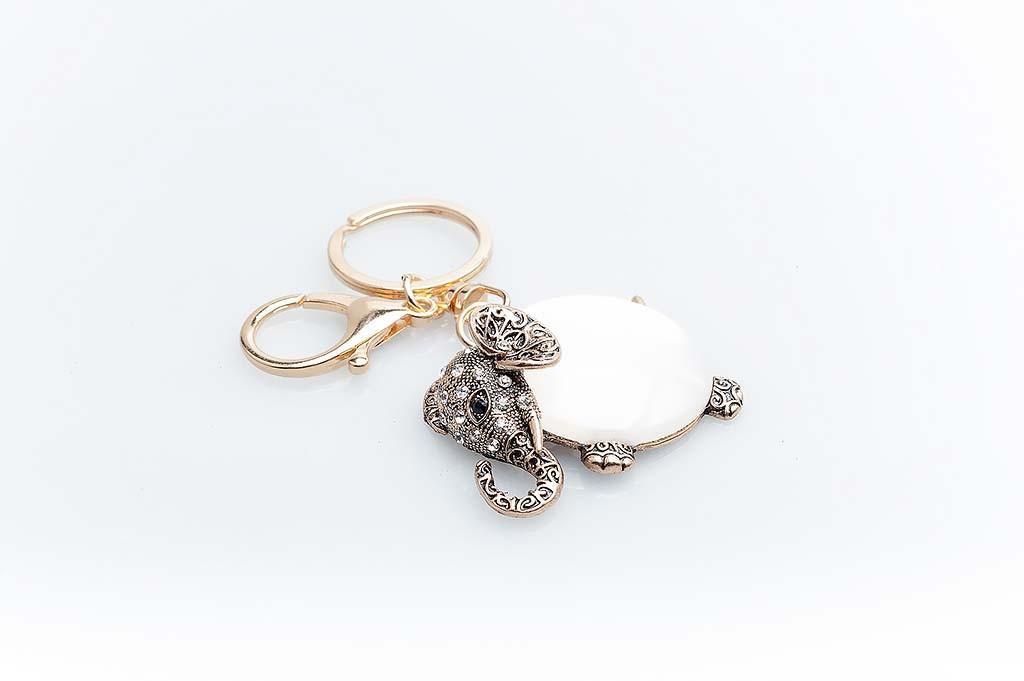 Women's keychain Golden elephant