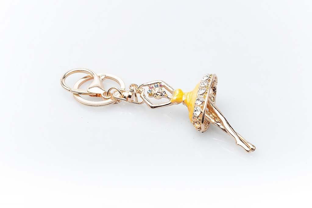 Women's keychain Golden dancer