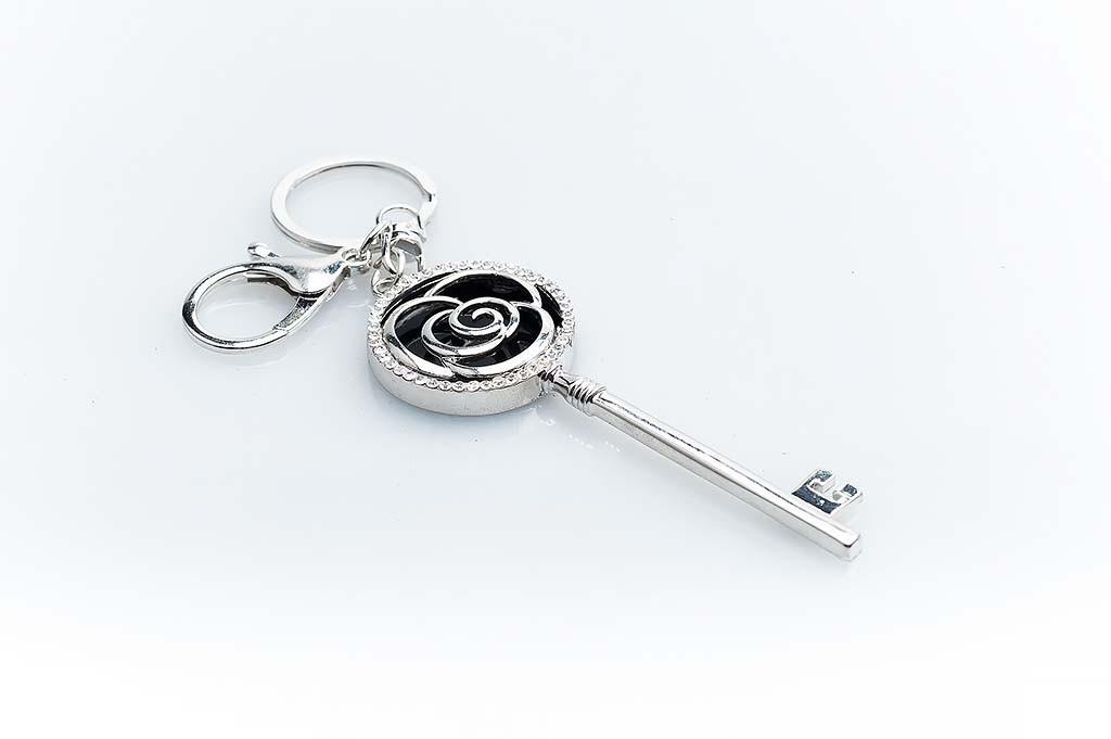 Women's keychain Silvery key