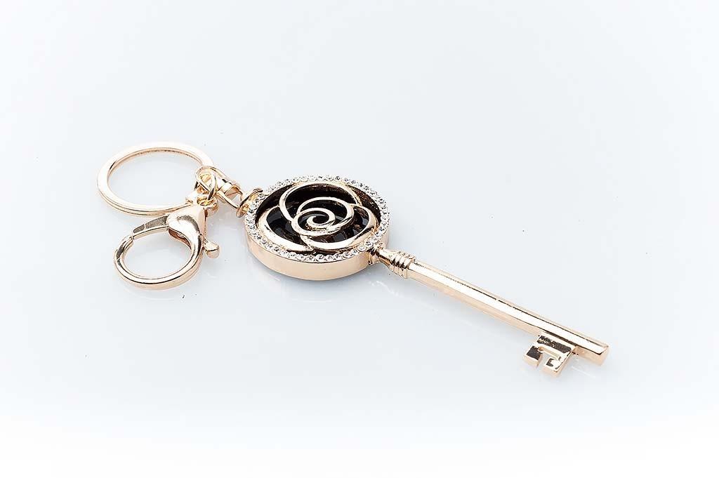 Women's keychain Golden key