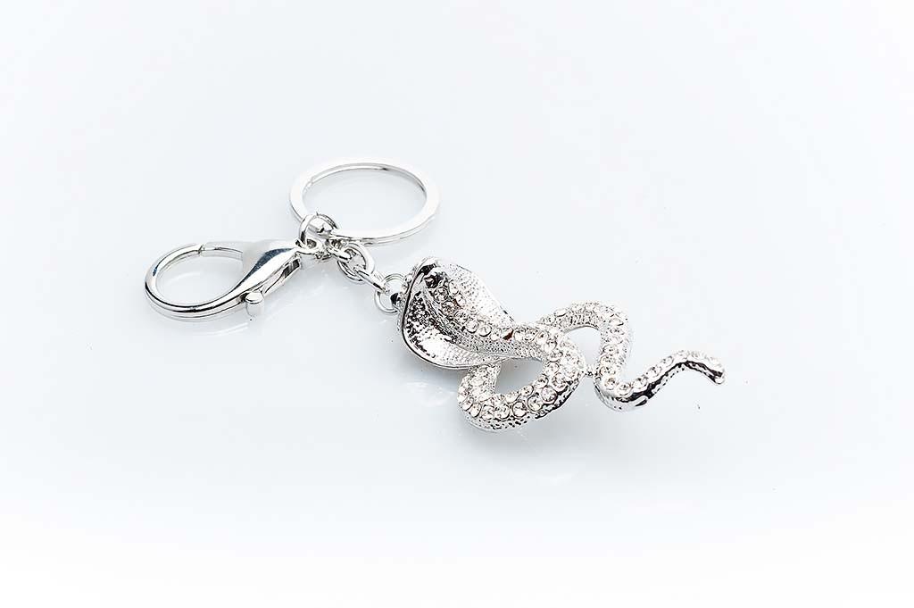 Women's keychain Silvery snake