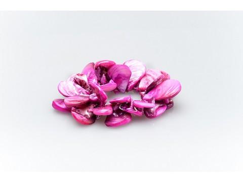 Дамска цветна седефена гривна
