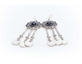 Дамски посребрени обеци със сребърно покритие