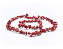 Дамски комплект от колие и гривна изработен от червен яспис