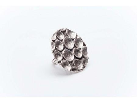 Дамски пръстен със сребърно покритие